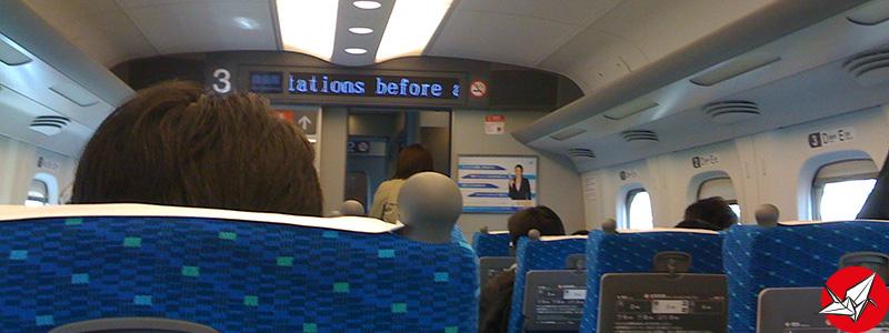 Intérieur du Shinkansen